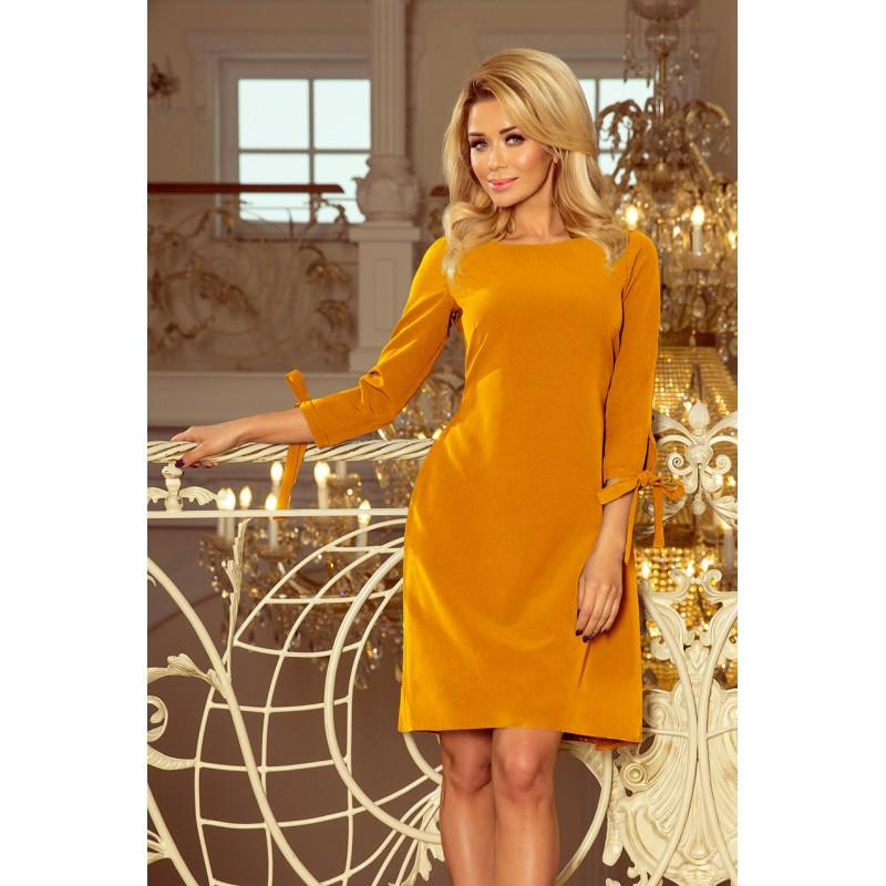 Večerné šaty krátke žltej farby 909a1bf00ab