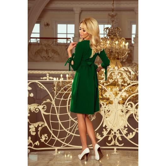 Krátke spoločenské šaty zelenej farby