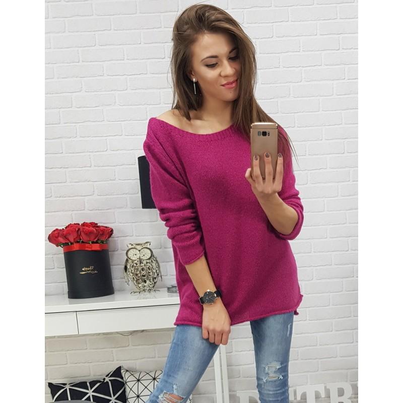 5372b6da2237 Dámsky ružový sveter