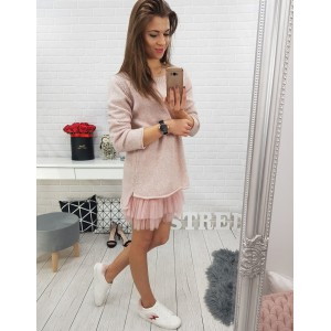 Pletený dámsky ružový sveter