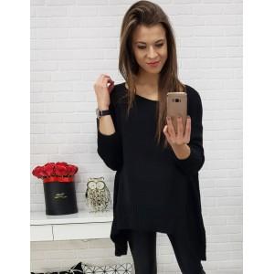 Elegantný dámsky sveter čiernej farby