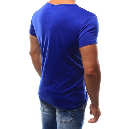 Pánske tričko s krátkym rukávom modrej farby