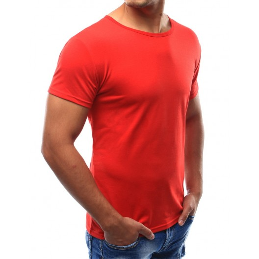 Červené tričko s krátkym rukávom