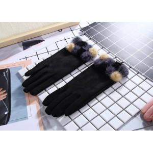 Zimné štýlové dámske rukavice v čiernej farbe