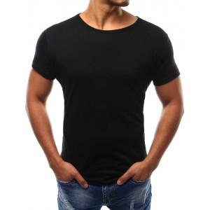 Čierne tričko pánske s krátkym rukávom