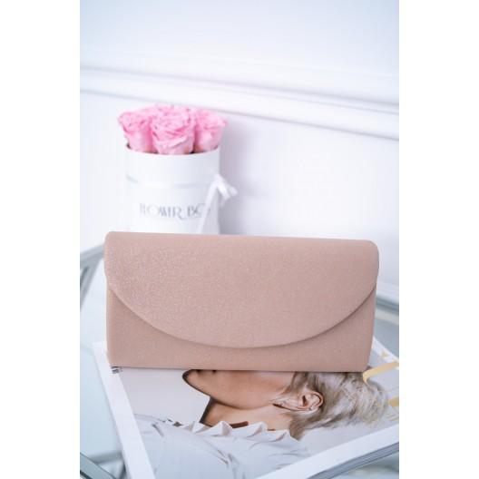 Spoločenská dámska listová kabelka v ružovej farbe so zapínaním na cvok