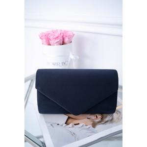 Večerná tmavo-modrá zamatová dámska listová kabelka