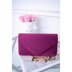 Zamatová dámska kabelka do ruky v originálnej cyklamenovej farbe