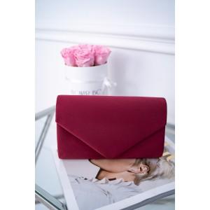 Dámska bordová spoločenská listová kabelka so zapínaním na magnet