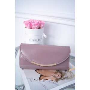 Trendy ružová dámska lakovaná kabelka do ruky