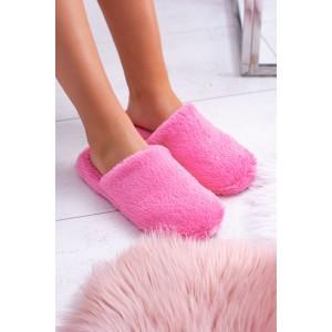 Tmavo ružové dámske nasúvacie papuče