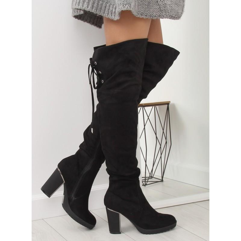 7a8a67cc2f Vysoké čižmy nad kolená čiernej farby
