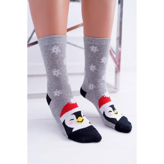 Vianočné dámske ponožky s motívom tučniaka