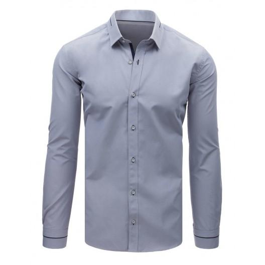Luxusná pánska košeľa sivej farby s dlhým rukávom