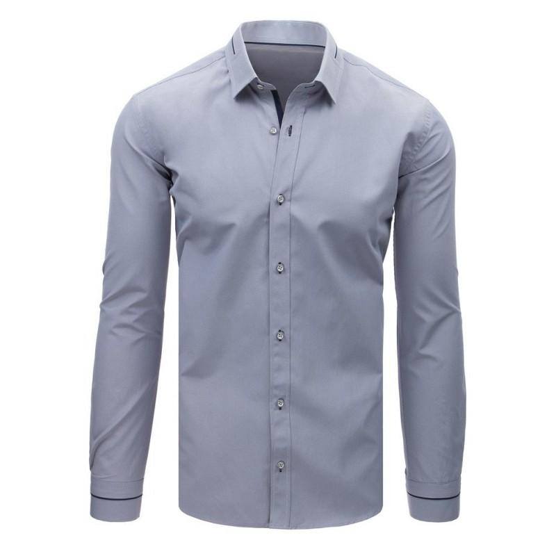 0e1f2cfa2a41 Luxusná pánska košeľa sivej farby s dlhým rukávom