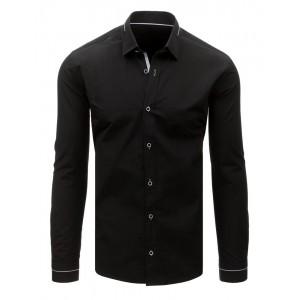 Čierna košeľa pánska s dlhým rukávom