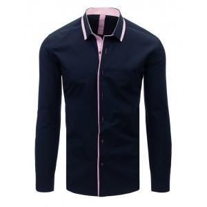 Tmavo modrá pánska košeľa k obleku