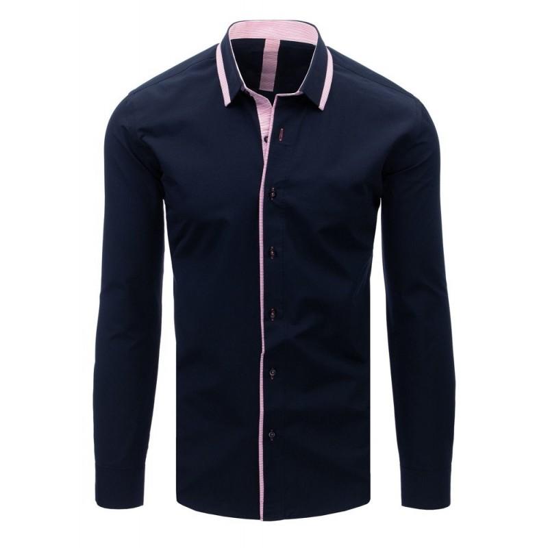 cd3d354ea783 Tmavo modrá pánska košeľa k obleku