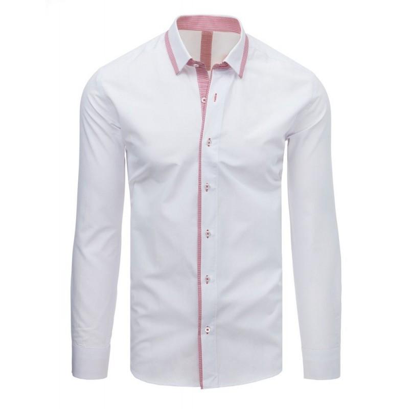 89217c89ea Elegantná biela pánska košeľa s dlhým rukávom