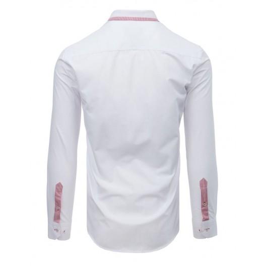 Elegantná biela pánska košeľa s dlhým rukávom
