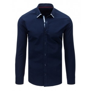 Pánska slim fit košeľa tmavo modrej farby