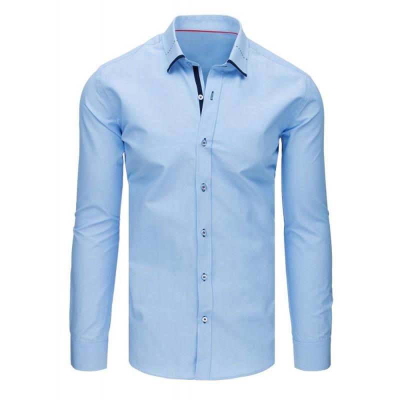 4d03b9b63e6d Moderná pánska košeľa do obleku svetlo modrej farby