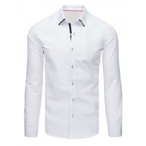 Biela pánska košeľa s dlhým rukávom do obleku