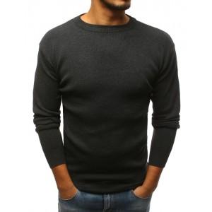 Tmavo sivý pánsky sveter na zimu