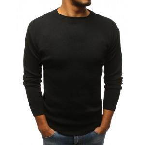 Elegantný chlapčenský sveter čiernej farby