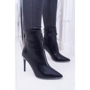 Dámske kotníkové topánky na vysokom podpätku
