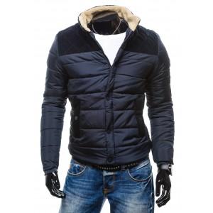 Zimné bundy čiernej farby so zateplením okolo krku na zips