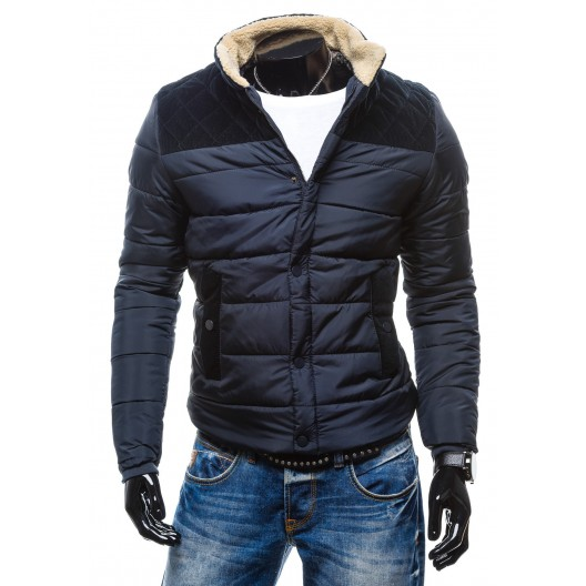 Zimné bundy granátovej farby so zateplením okolo krku na zips