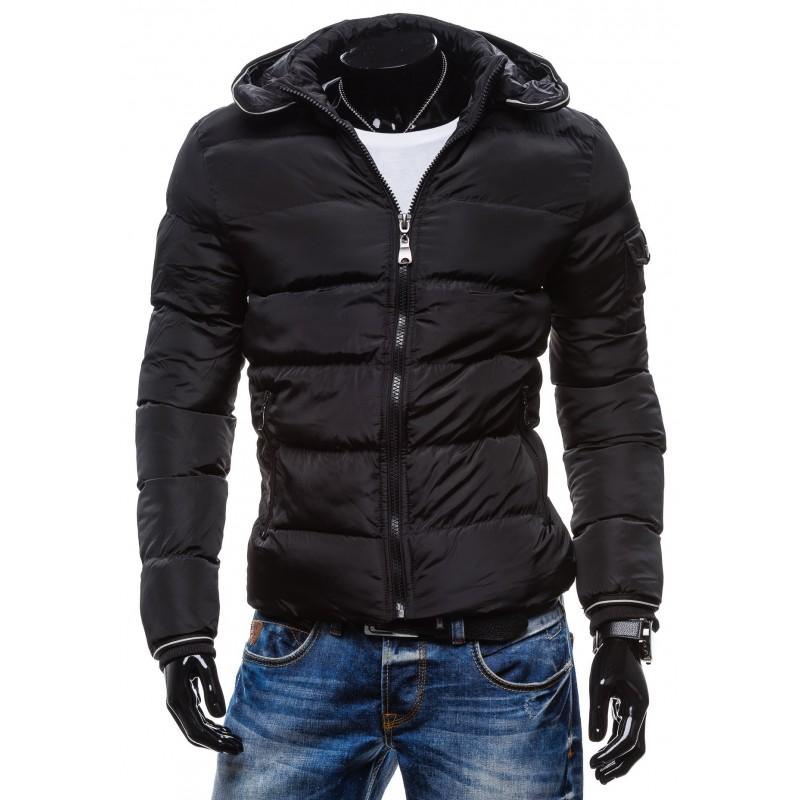 Štýlové pánske zimné bundy čiernej farby - fashionday.eu 6386d4cc6c6