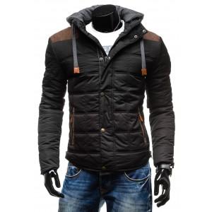 Moderné kvalitné pánske bundy na zimu so štýlovou kapucňou