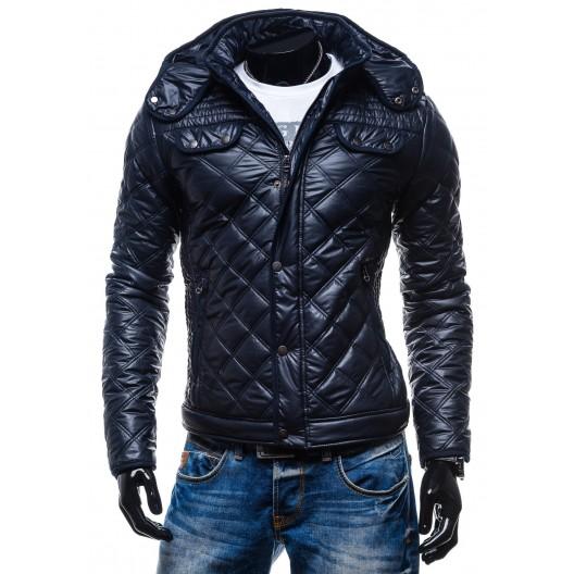 Moderné zimné bundy pre pánov s kockovaným vzorom a kapucňou