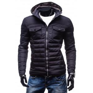 Značkové pánske zimné bundy s kapucňou a vreckami