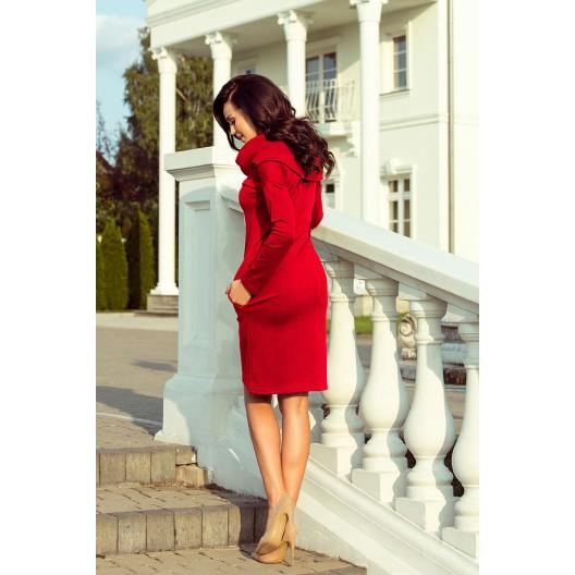 Červené dámske spoločenské šaty krátke
