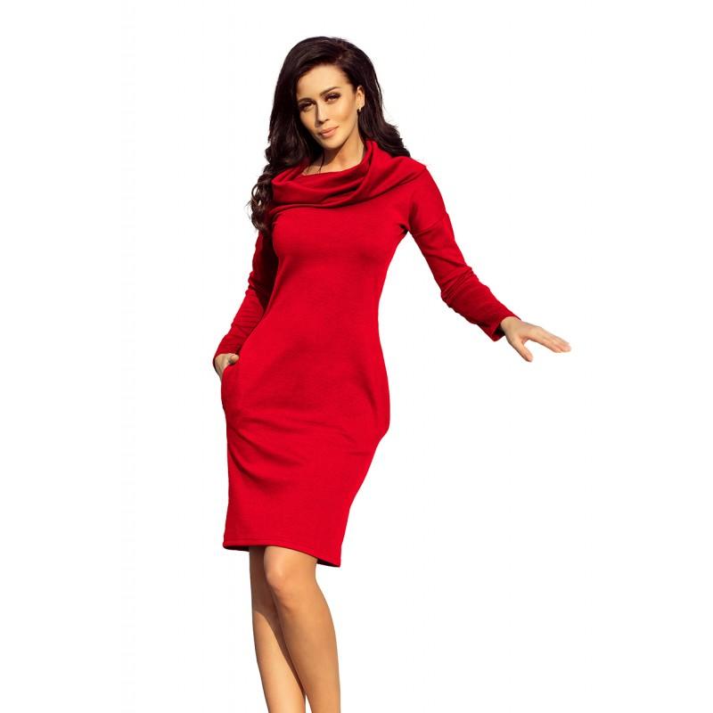 fff19f3027b9 Červené dámske spoločenské šaty krátke
