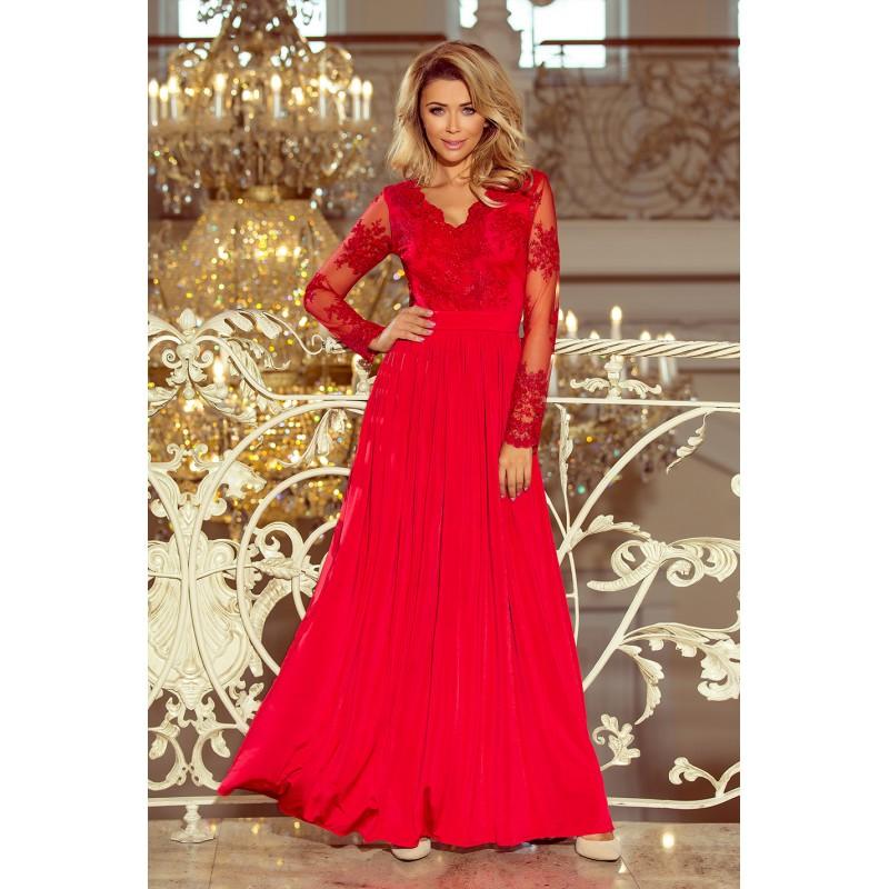 Večerné šaty dlhé červenej farby c9f6f6d9e55