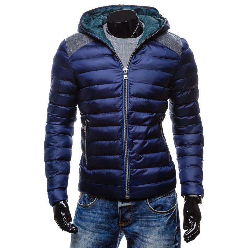 Predchádzajúci. Moderné zimné bundy za akciové ceny modrej farby s kapucňou  na zips ... 1800524beaa