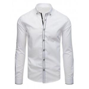 Elegantná biela košeľa slim fit s dlhým rukávom