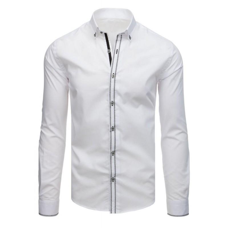 957147a0266b Elegantná biela košeľa slim fit s dlhým rukávom
