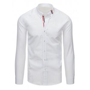 Biela slim fit košeľa pánska s dlhým rukávom