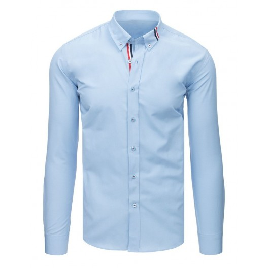 Luxusná svetlo modrá pánska košeľa s dlhým rukávom