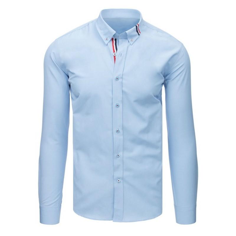 6f9a33f0838d Luxusná svetlo modrá pánska košeľa s dlhým rukávom