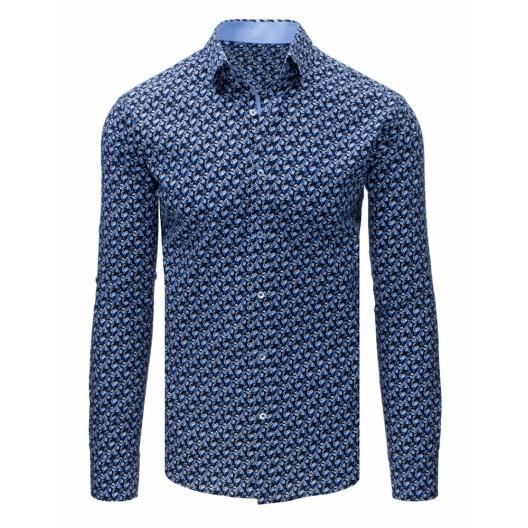 Moderná slim fit pánska košeľa so vzorom