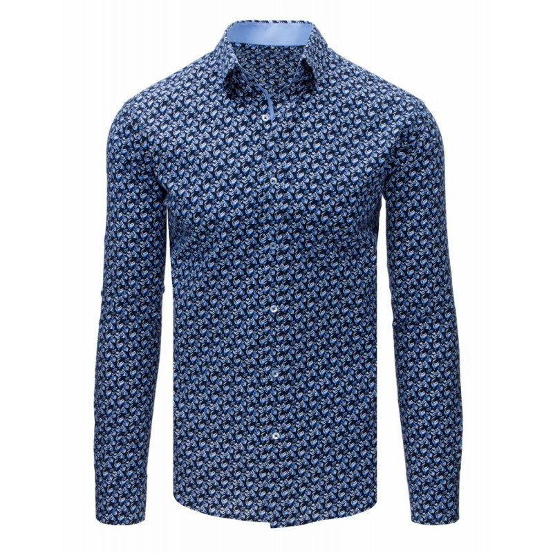 d6dcd208d Moderná slim fit pánska košeľa so vzorom