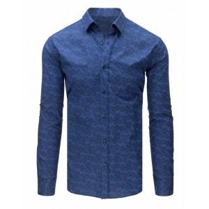 Pánska štýlová košeľa tmavo modrej farby