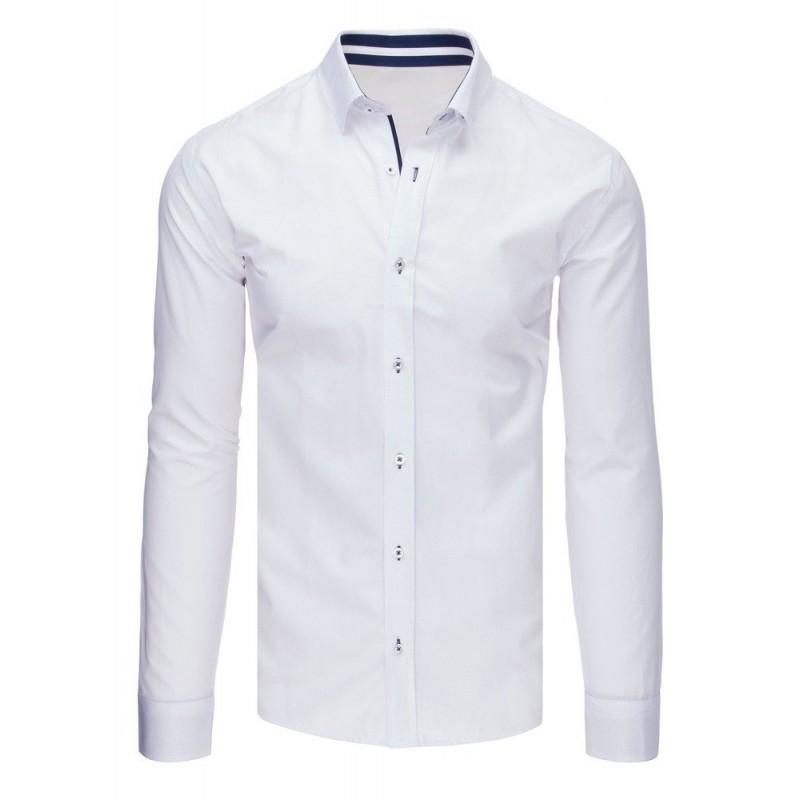 e5dd20c2cb66 Pánska elegantná košeľa s dlhým rukávom v bielej farbe