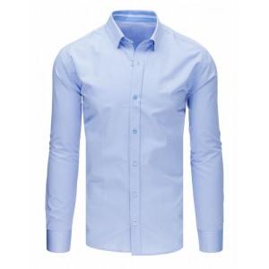 Pánska košeľa slim fit s dlhým rukávom v modrej farbe